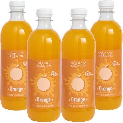 Vorteilspack Happy Mix Sirup Orange Set 4x 500ml