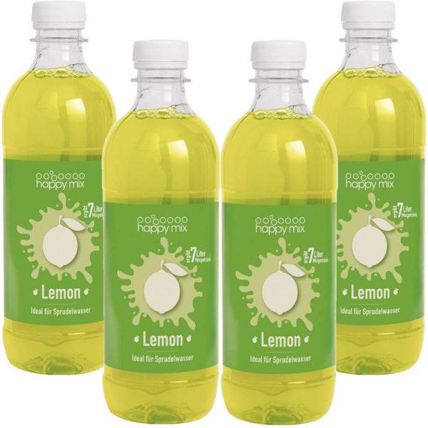 Vorteilspack Happy Mix Sirup für Wassersprudler Lemon Set 4x 500ml